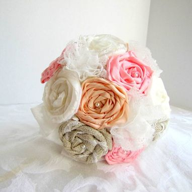 Custom Made Silk Ribbon Flower Bouquet