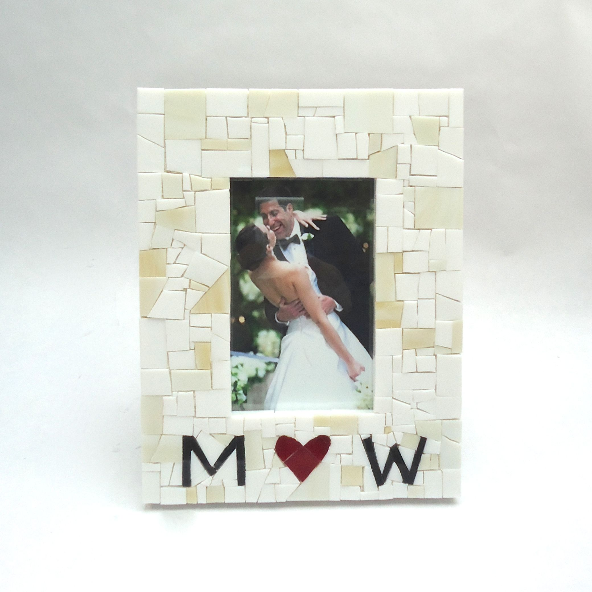 Buy a Custom Made Personalized Mosaic Wedding Picture Frame With ...