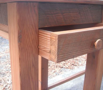 Custom Made Recycled Pine Student Desk