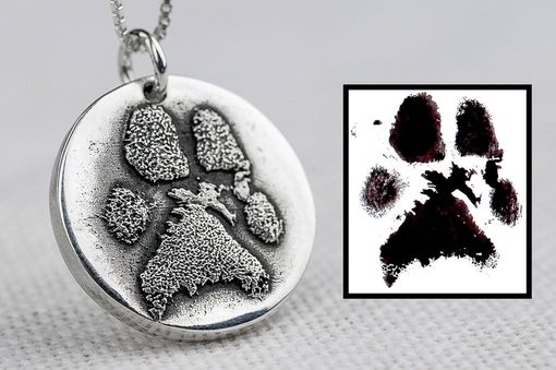 Custom Made Dog Paw Necklace Made From Ink Print