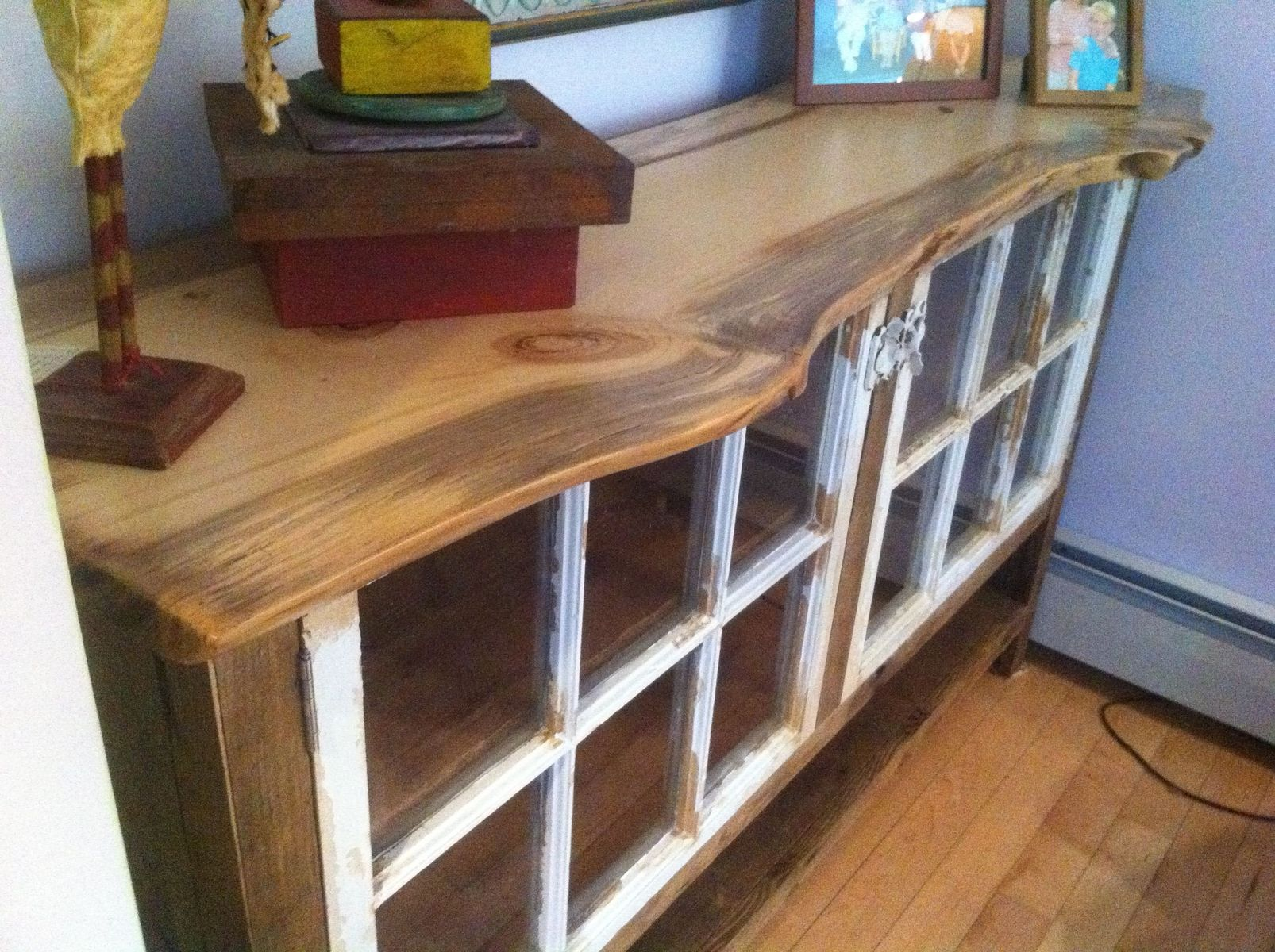 Dining table made from old door - Handmade Reclaimed Wood Sideboard With Recycled Windows By Wooden Hammer Llc Custommade Com