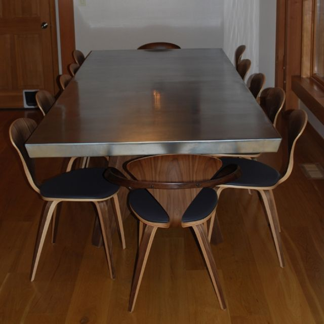 Hand Crafted Ketcham Zinc Top Dining Table By Scott Designs Custommade