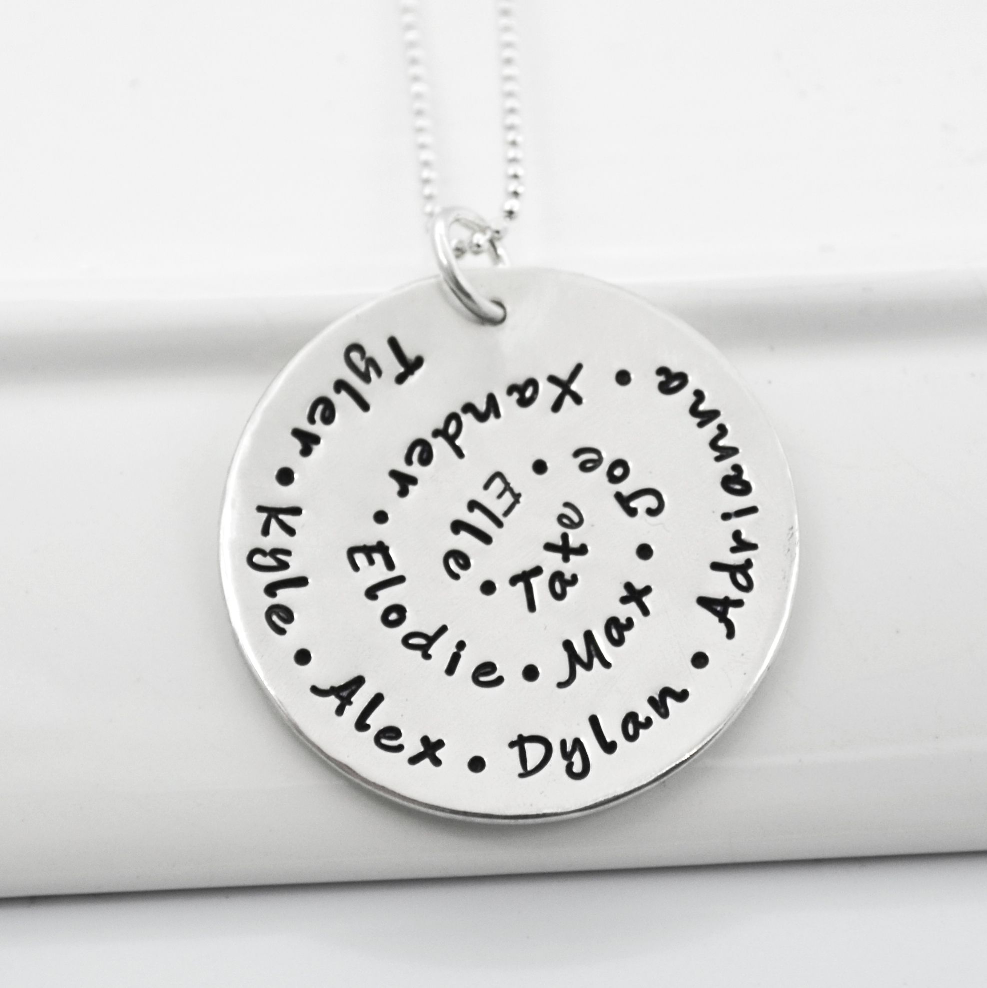 products new or own hand custom stamped statement pendant premium me with arrival always your
