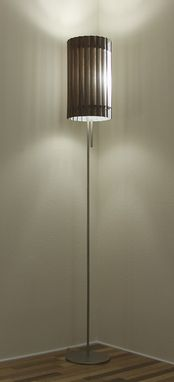 Custom Made Slatewood Razor - Wooden Lamp Shade - Walnut