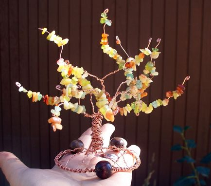 Custom Made Autumn Wedding Cake Topper Tree Of Life Sculpture