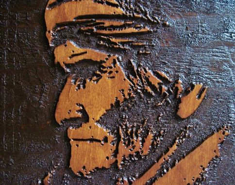 Custom Made Geronimo A True Native American Hero Hand Crafted Deeply Carved Wood Wall Art