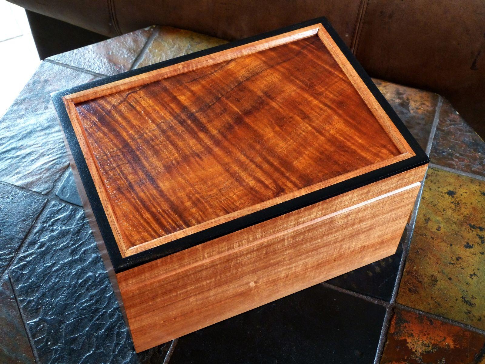 Handmade Koa Desktop Humidor By Carolina Wood Designs