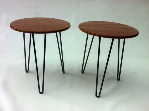 Custom Made Modern Side Tables With Hairpin Legs