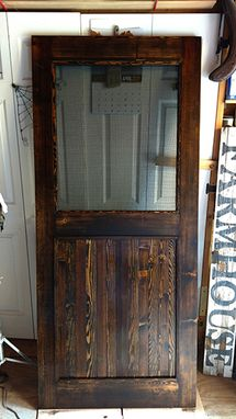 Hand Crafted Custom Made Re-Milled Barn Wood Screen Door