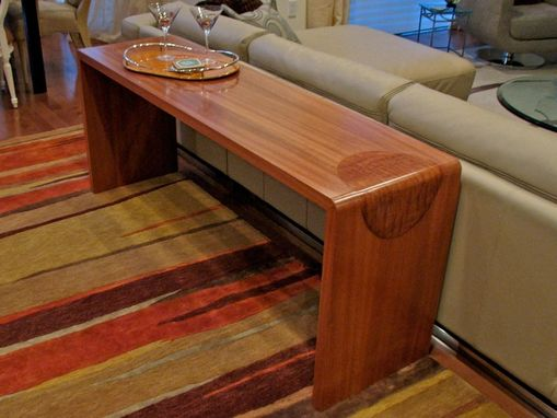 Custom Made Sapele Console Table