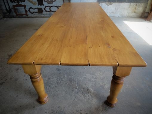Custom Made Light And Airy Pine Dining Table