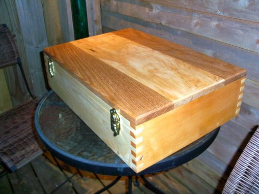 Custom Made Wood Case, Wood Laptop Case, Locking Wood Box