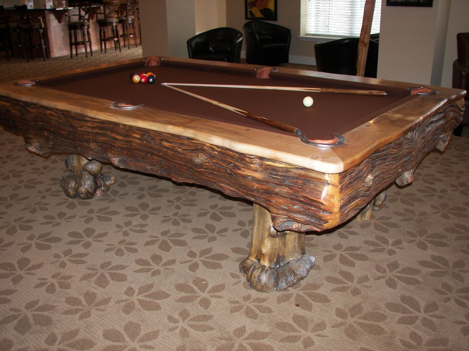 hand made custom billiard tables by roaring fork custom billiards. Black Bedroom Furniture Sets. Home Design Ideas
