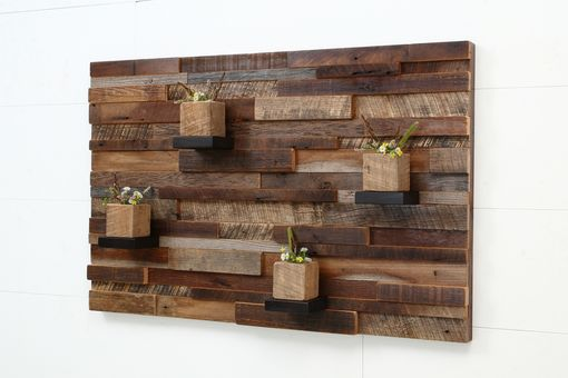 Custom Made Reclaimed Wood Wall Art Made Of Old Barnwood.
