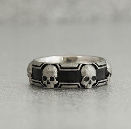 the custom experience - Mens Skull Wedding Rings