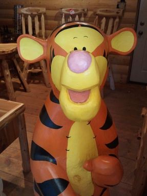 Custom Made Chainsaw Carved Tigger
