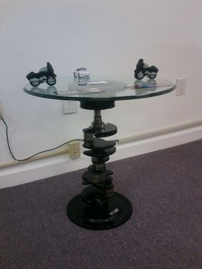 Custom Made Recycled V8 Crankshaft End Table