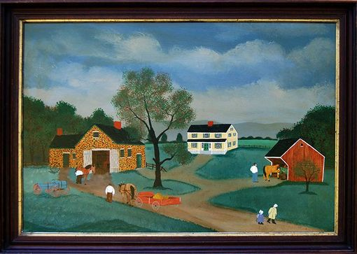 "Custom Made Original Painting - ""The Country Smithy""  On Masonite"