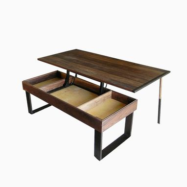 Terry S Lift Top Pop Up Walnut And Wenge Transformer Coffee Table