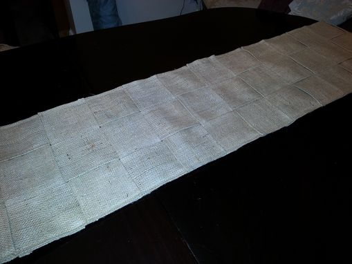 Custom Made Neutral Burlap Table Runner