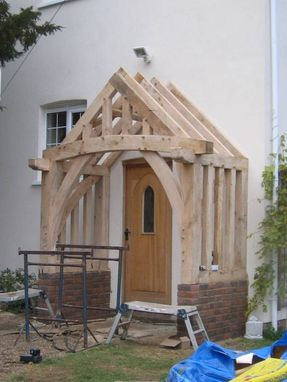 Custom Made Oak Porch - Traditional Frames, Beautiful Addition To Your Home