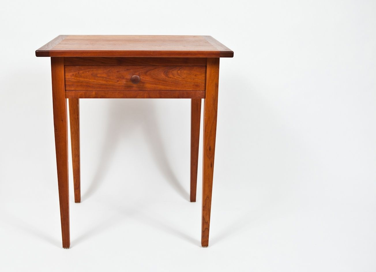 Custom Made Classic Shaker Style Cherry End Table By
