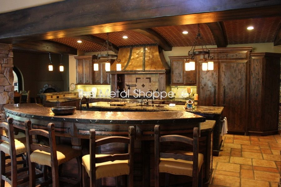 handmade custom kitchen hood and counter topthe metal shoppe