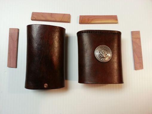 Custom Made Leather 3 Cigar Case