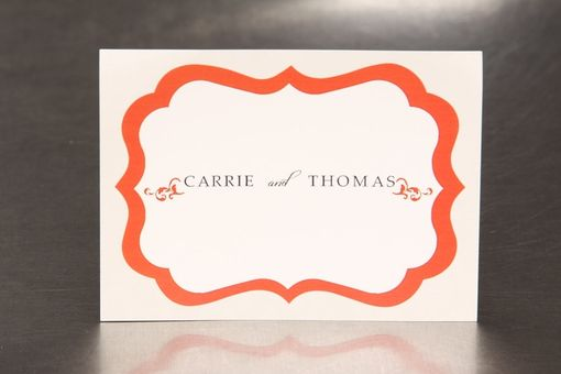 Custom Made Personalized Wedding Stickers - Elegant Flourish - Guest Bag Labels