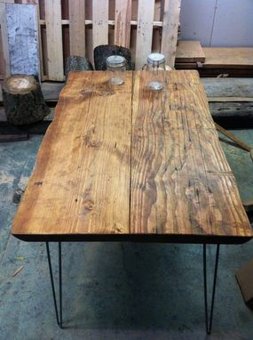 Custom Made Chainsaw Hewn River Log Table