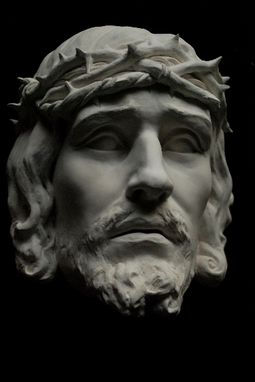 Custom Made Jesus Christ Crowned Thorns Sculpture Wall Display