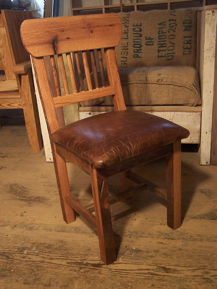 Buy Hand Made Reclaimed Oak Mission Style Dining Chairs With