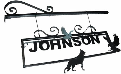 Custom Made Pre-Built Metal Yard Sign 24 X 8