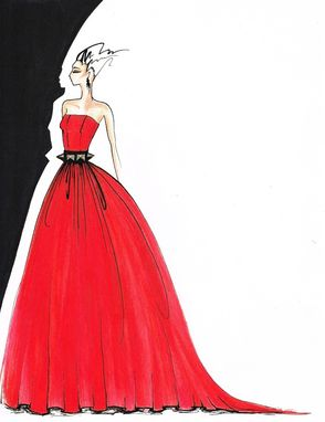 Custom Made Specialy Marker Fashion Illustration