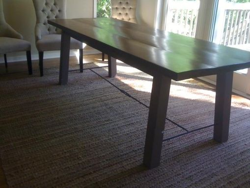 Custom Made Retro Country Loft Table With Blacksmith Highlights