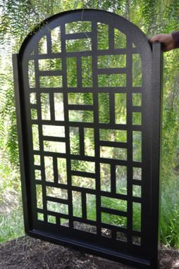 Custom Made Metal Gate Contemporary Pedestrian Walk Thru Entry Cut Art Modern Iron Garden
