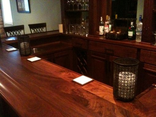 Custom Made Black Walnut Home Bar