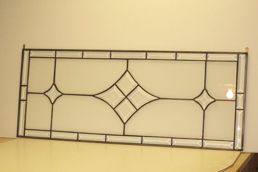 Custom Made Stained Glass Window - Bevel Transom (Tw-6)