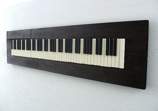 Hand Made Wall Art Piano Keyboard By Modern Rustic Art