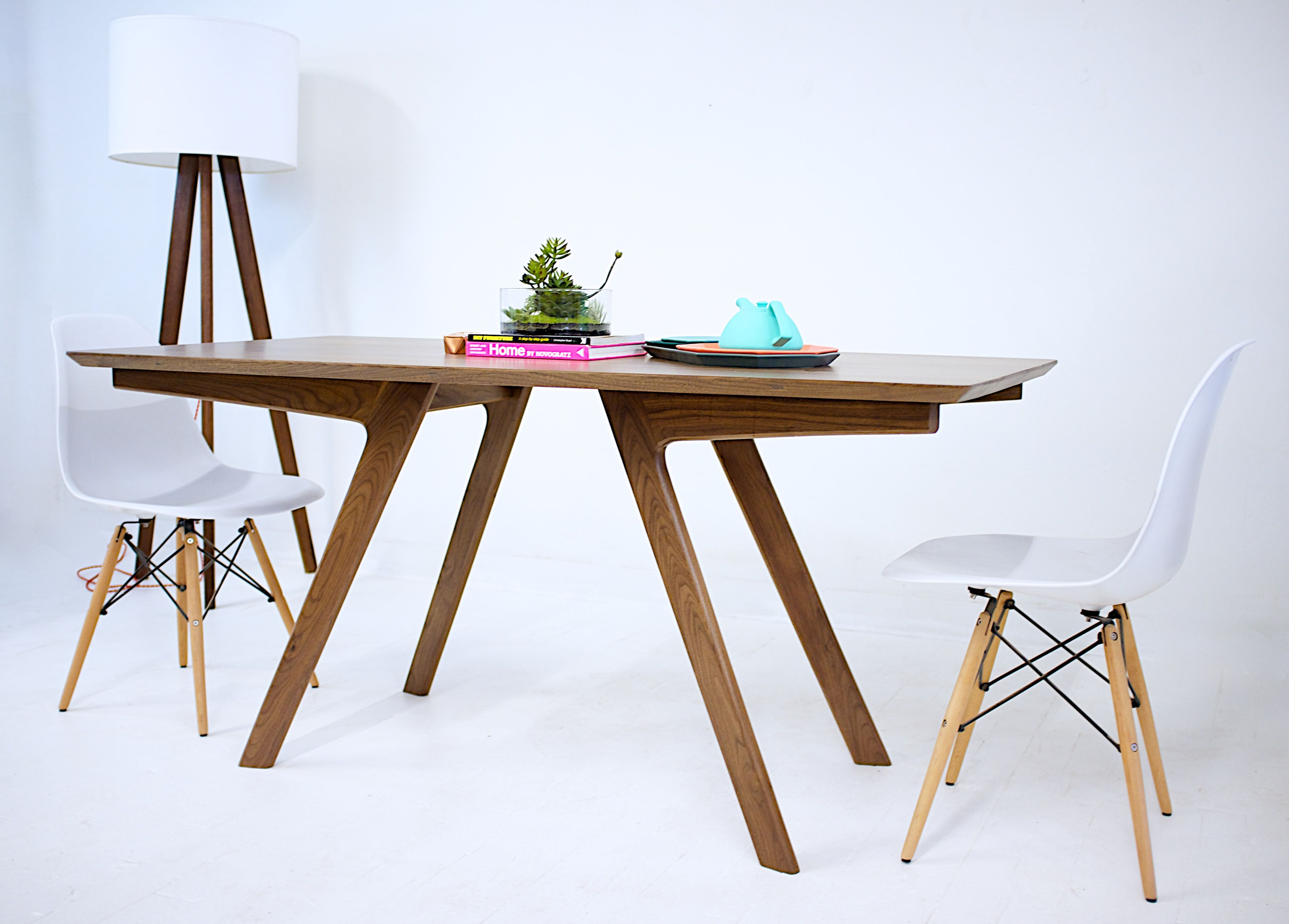 Cool Hand Crafted The Boomerang Mid Century Modern Solid Walnut Dining Table By Moderncreve With