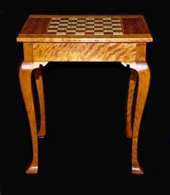 Custom Made Cabriole Leg Chess Table