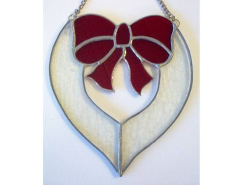 Custom Made Bow Heart, Ready To Ship