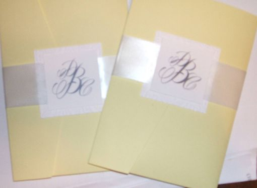 Custom Made Damask Embossed Wedding Invitation- Hand Crafted Paper