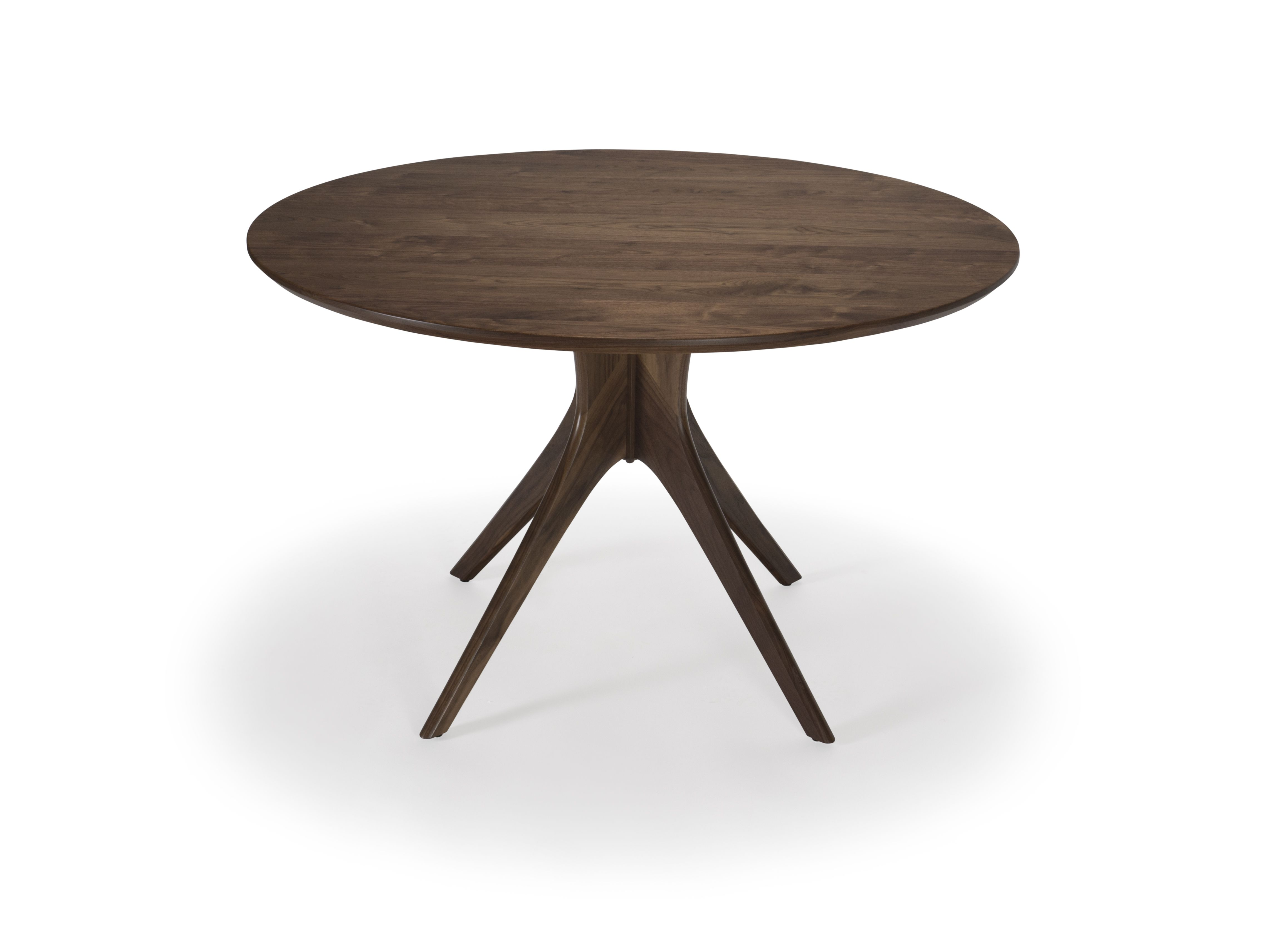 Hand Crafted Round Walnut Table Mid Century Modern Dining