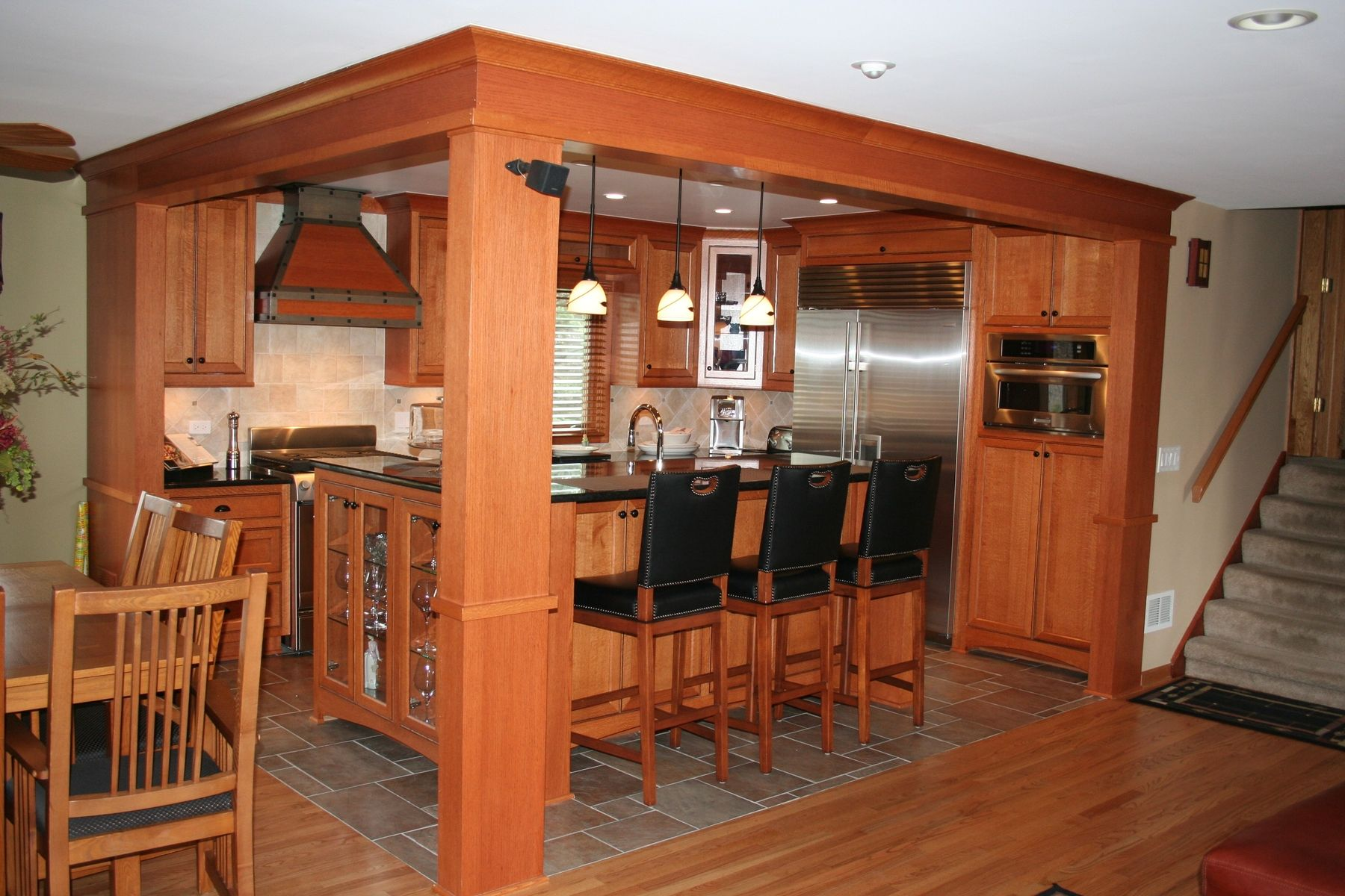 Handmade custom quarter sawn oak kitchen cabinets by jr 39 s custom cabinets - Custom made kitchen cabinets ...