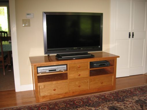 Custom Made Cherry Tv Cabinet