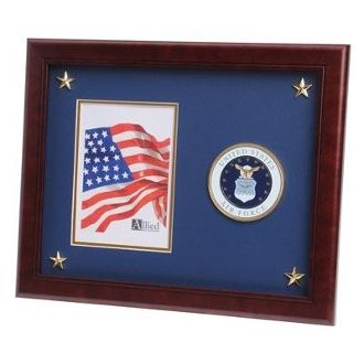 Custom Made U.S. Air Force Medallion Picture Frame With Star