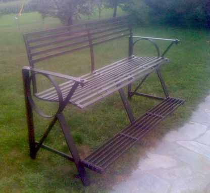 Custom Made Reclaimed Metal High Bench