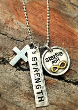 Custom Made Fine Silver & 22k Gold Sisters For Eternity Necklace