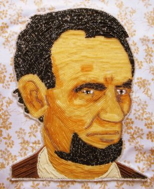 Custom Made Commission Seed Bead Embroidered Portraits